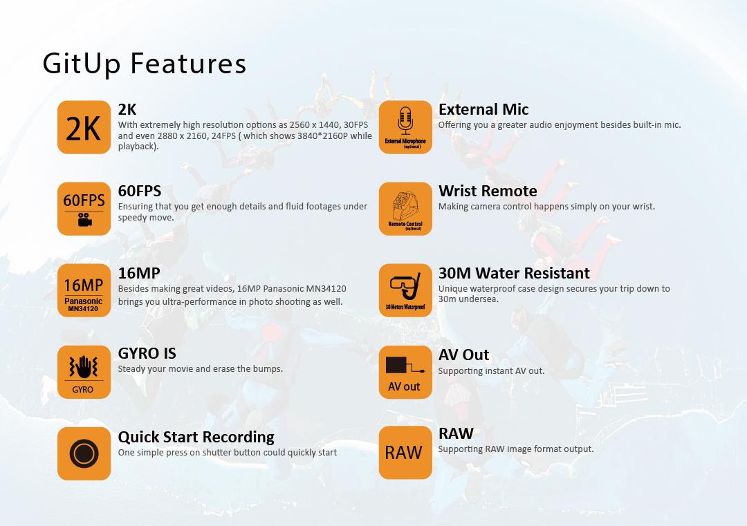 Viofo Gitup Git2p Pro Action Camera