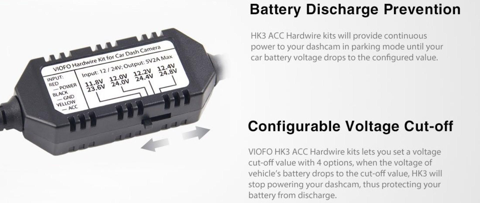 Viofo Hardwire Kit HK3 for Viofo Dashcam A129 A119